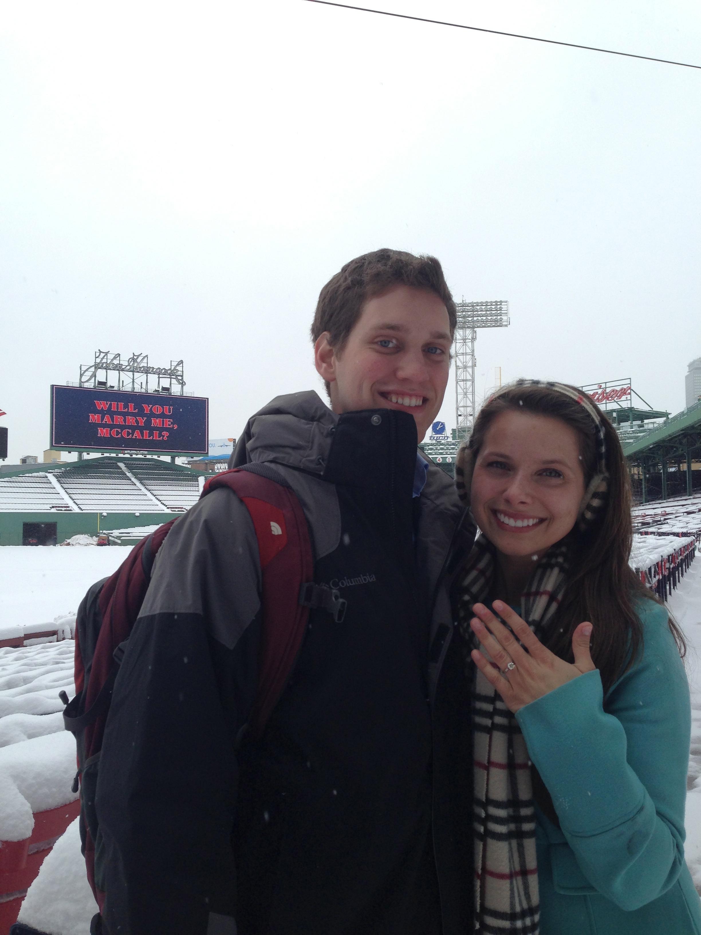 Fenway Park Marriage Proposal Photos