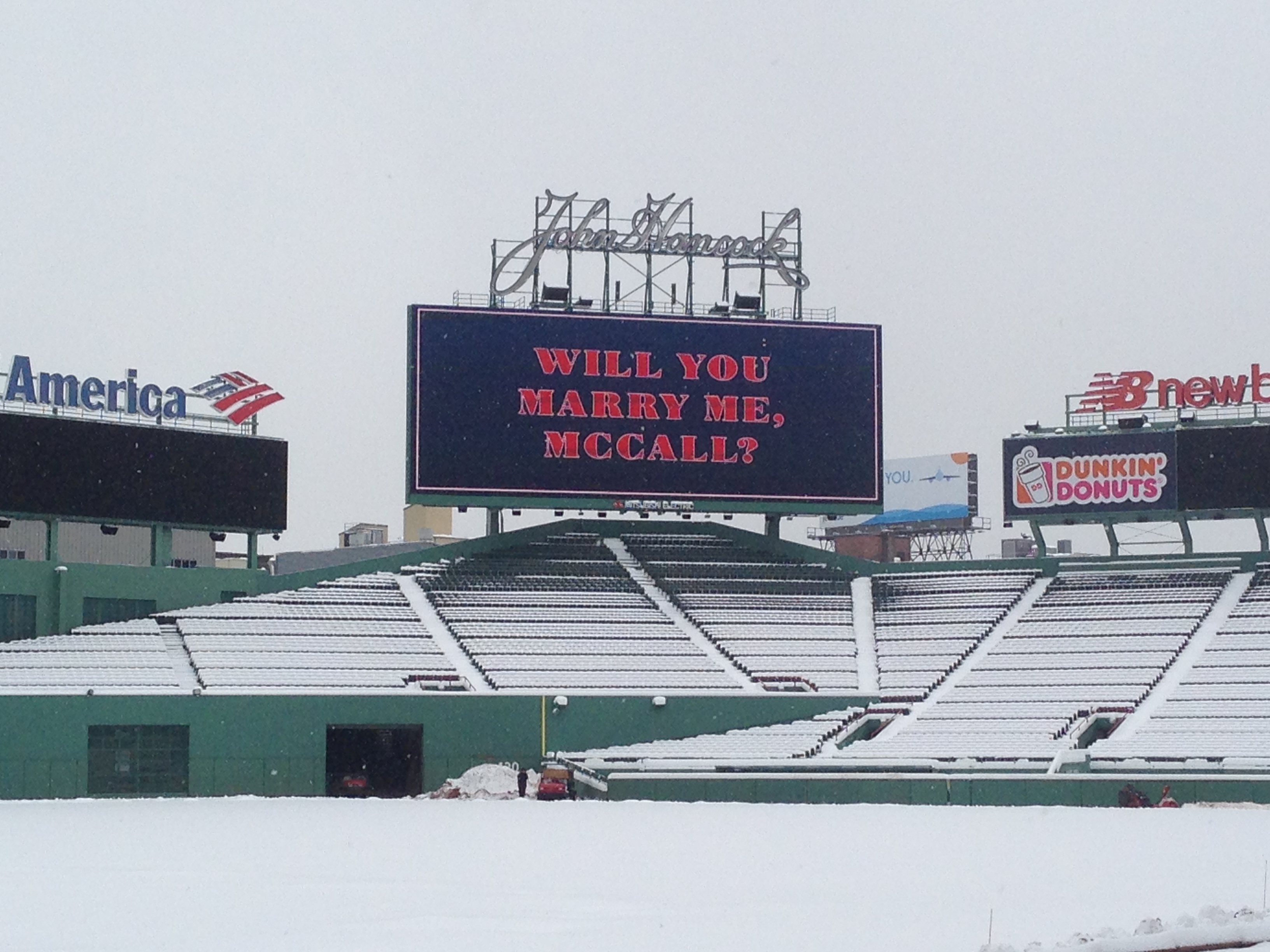 Image 6 of McCall and Brandon's Fenway Park Marriage Proposal