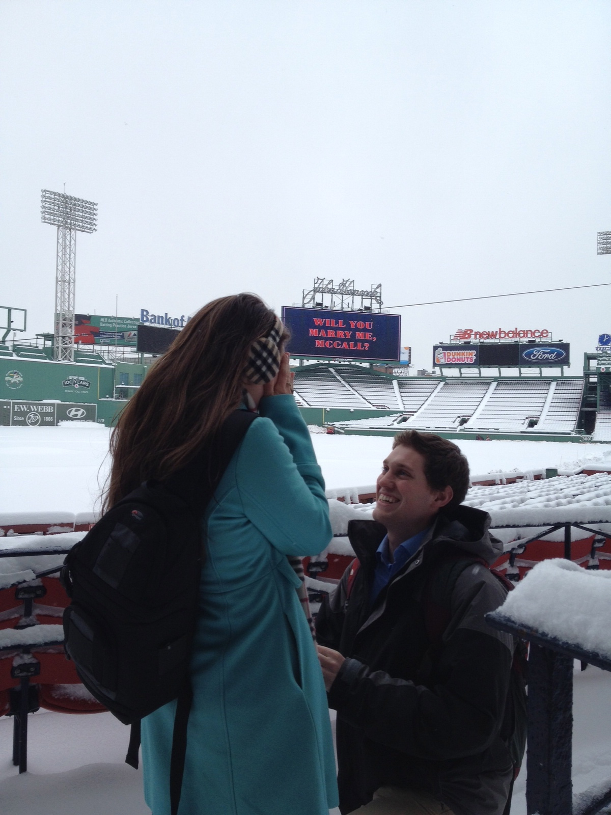 Image 2 of McCall and Brandon's Fenway Park Marriage Proposal