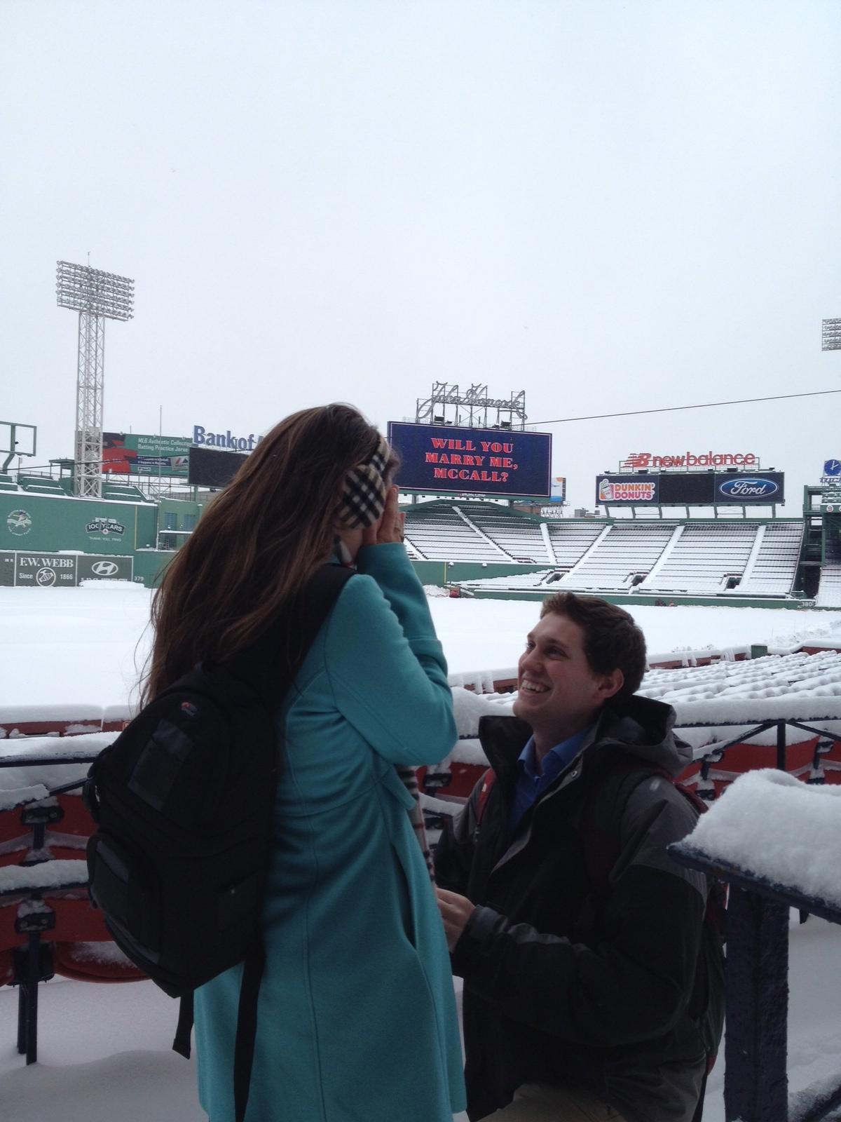 Fenway Park Marriage Proposal Ideas