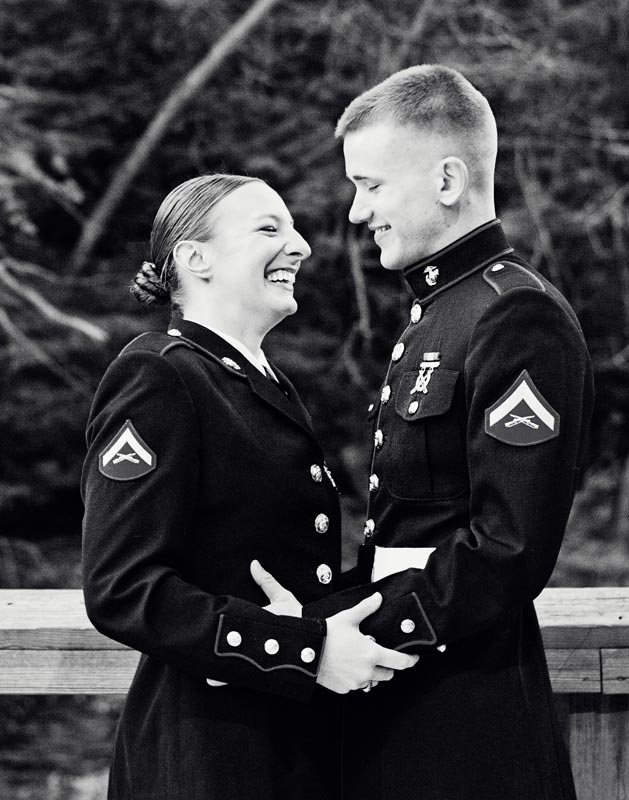 Image 1 of Military Marriage Proposal: Matt and Gina