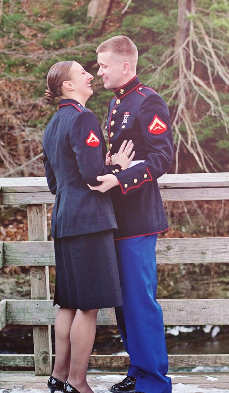 Image 2 of Military Marriage Proposal: Matt and Gina