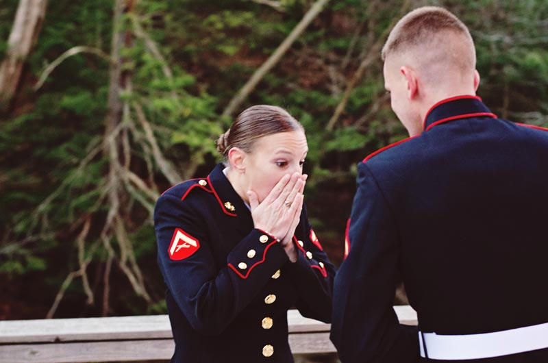 Image 4 of Military Marriage Proposal: Matt and Gina