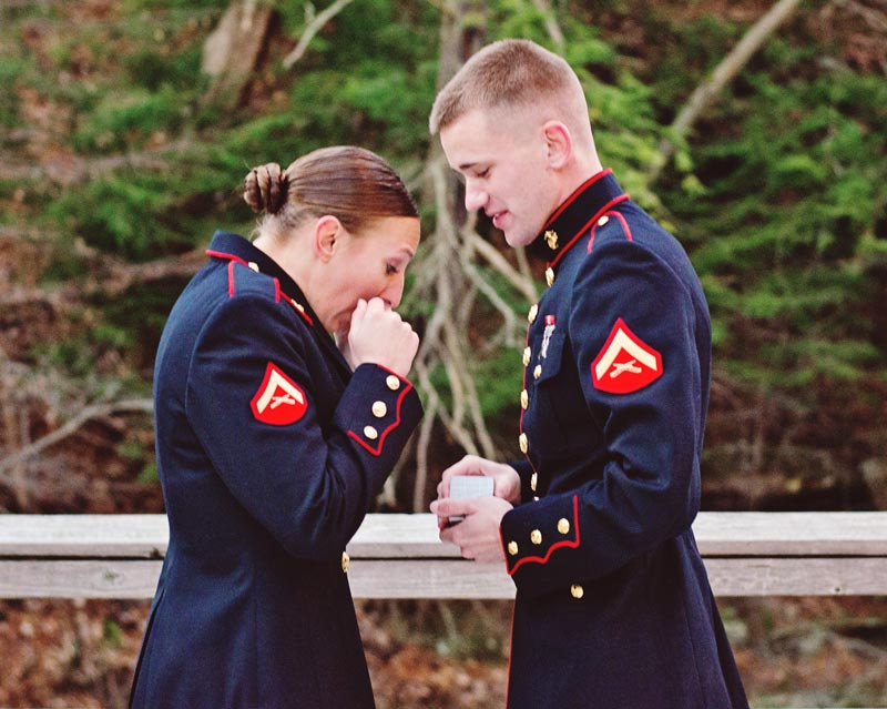 Image 5 of Military Marriage Proposal: Matt and Gina