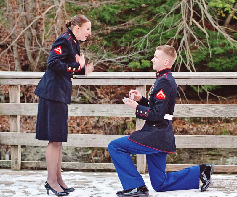 Image 7 of Military Marriage Proposal: Matt and Gina