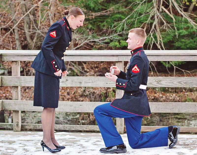 Image 8 of Military Marriage Proposal: Matt and Gina