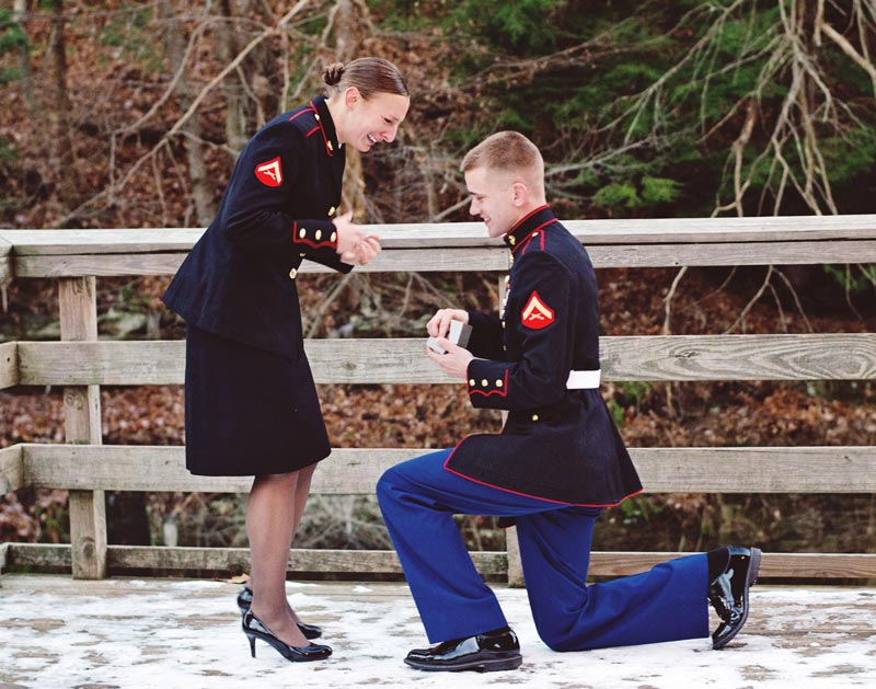 Image 9 of Military Marriage Proposal: Matt and Gina