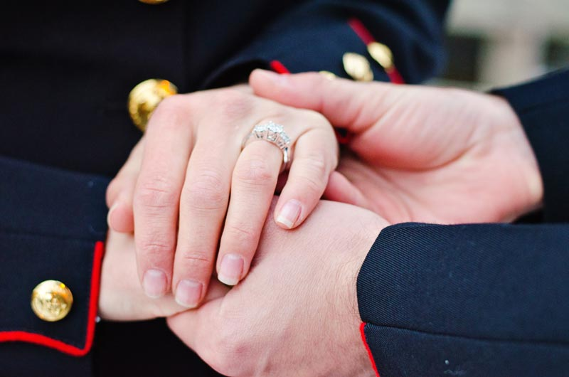 Image 12 of Military Marriage Proposal: Matt and Gina