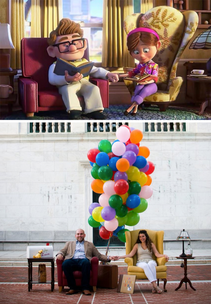 Image 1 of Up-Themed Marriage Proposal