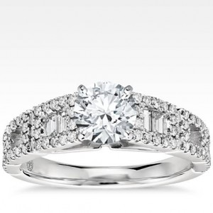 Empire Diamond Engagement Ring