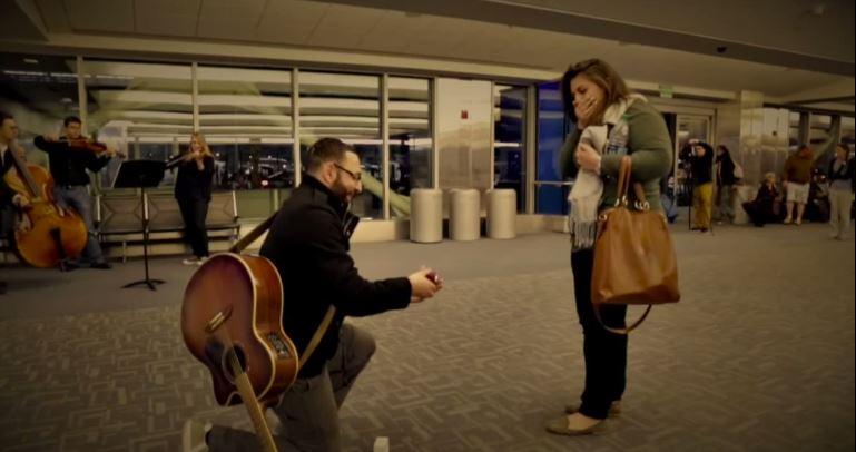 Airport Marriage Proposal-5524