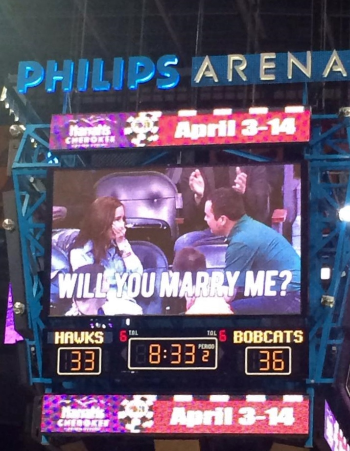 Kiss Cam Marriage Proposal