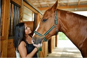 Marissa with her horse