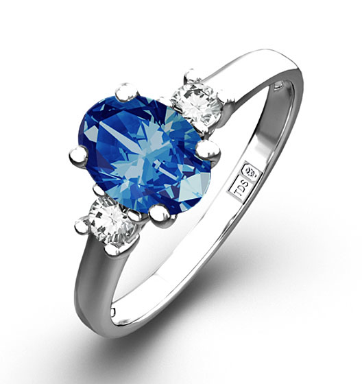 the diamond store engagement ring sapphire