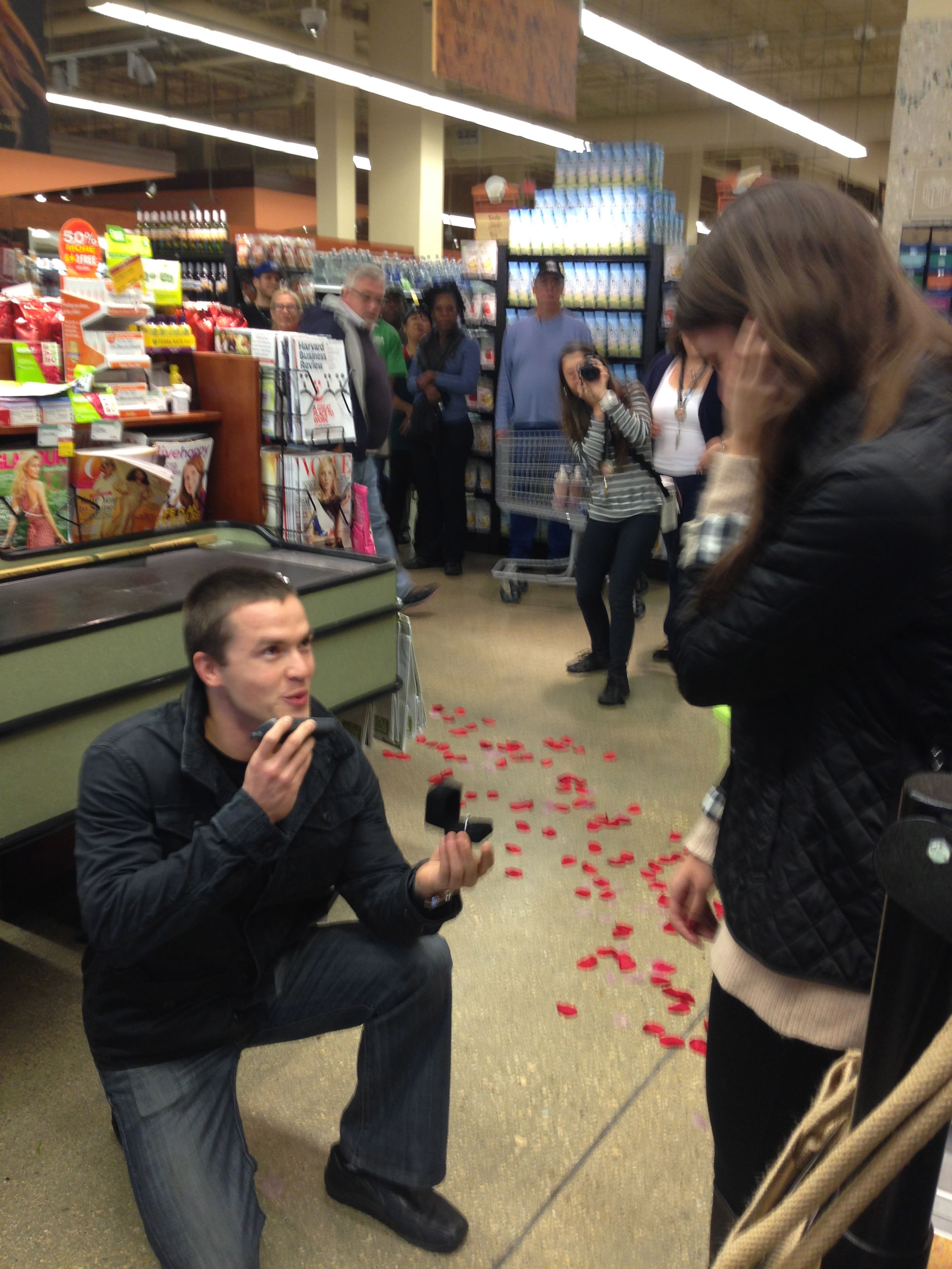 Marriage Proposal at Whole Foods