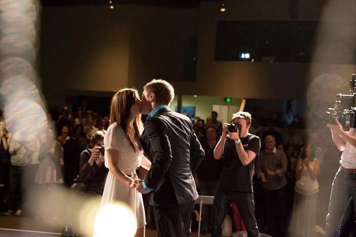Marriage proposal at church (2)
