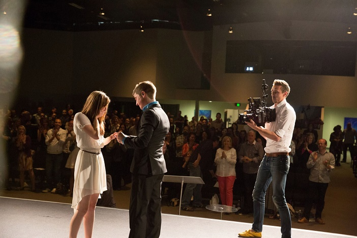 Marriage proposal at church (3)