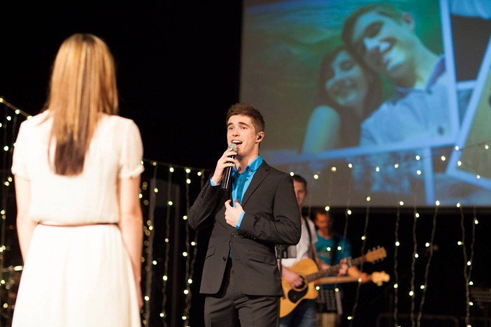Marriage proposal at church (6)