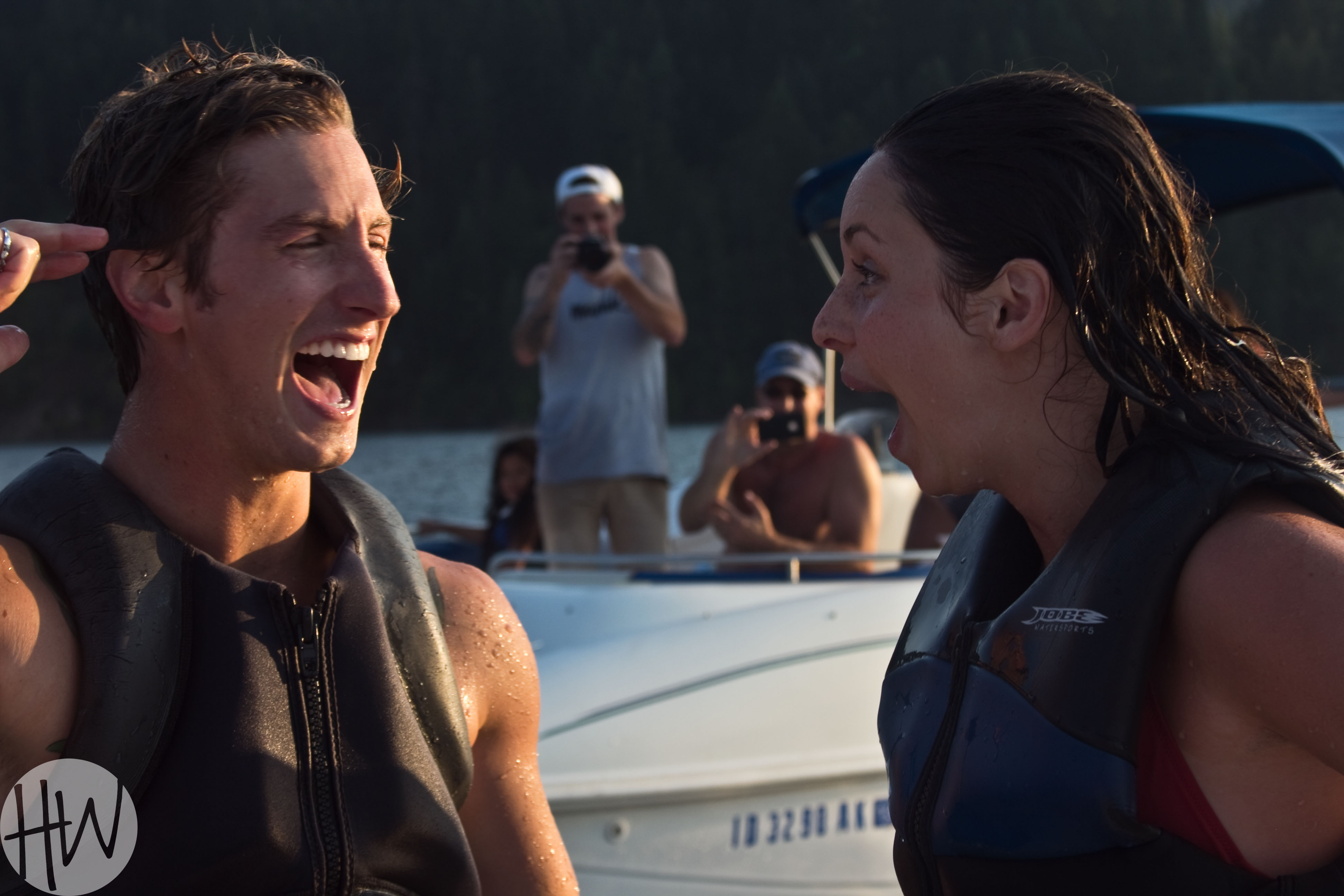 Image 1 of Brynn & Matt's Awesome Wakeboarding Proposal