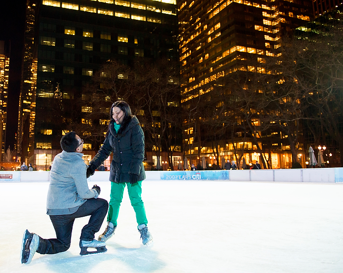 bryant park marriage proposal idea in new york city