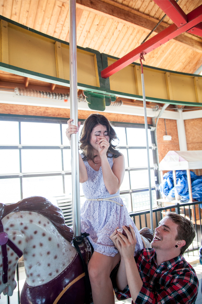 Image 4 of Rochelle and Dustin's Carousel Marriage Proposal