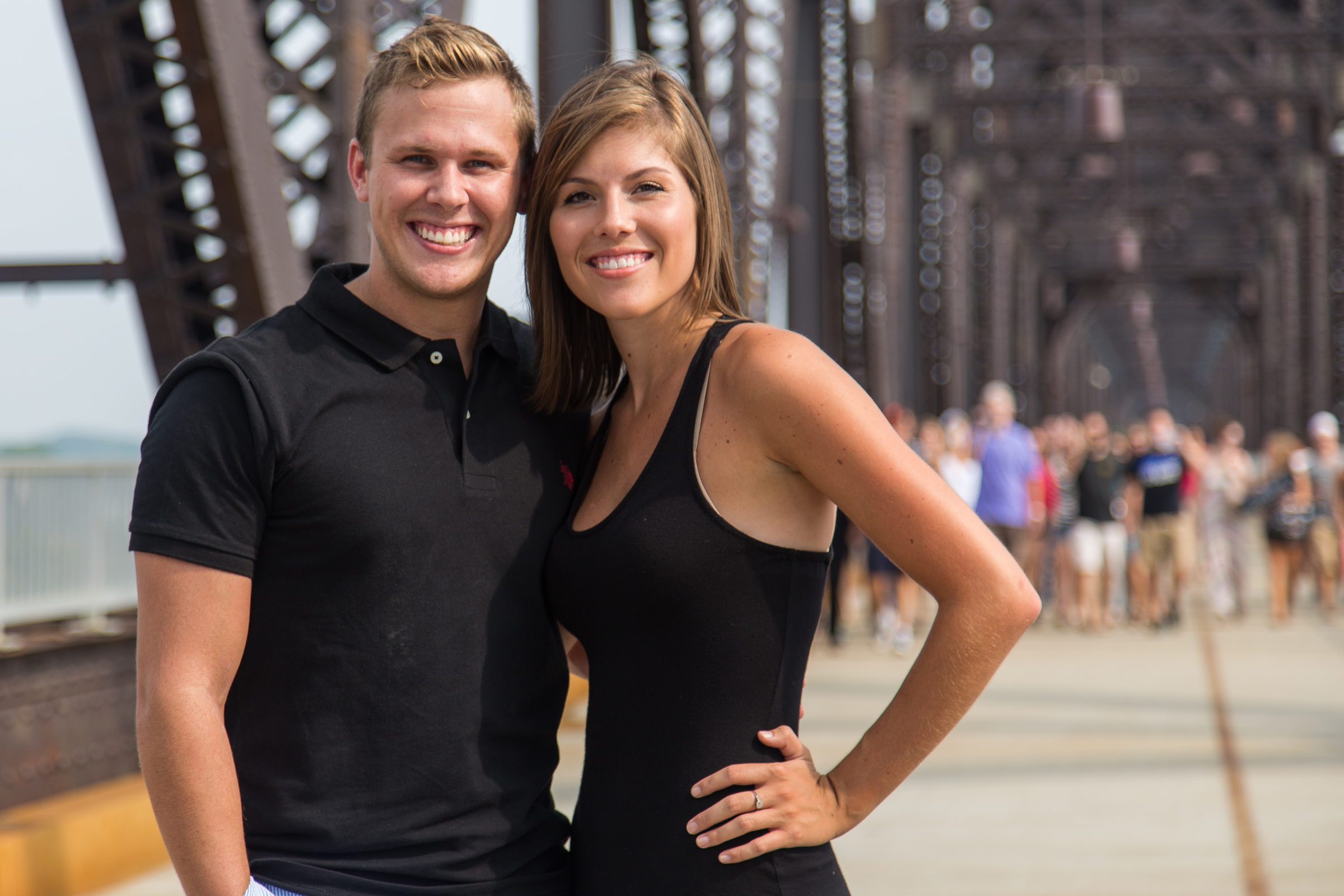 Image 1 of Jessica and Joseph's Walking Bridge Proposal in Louisville