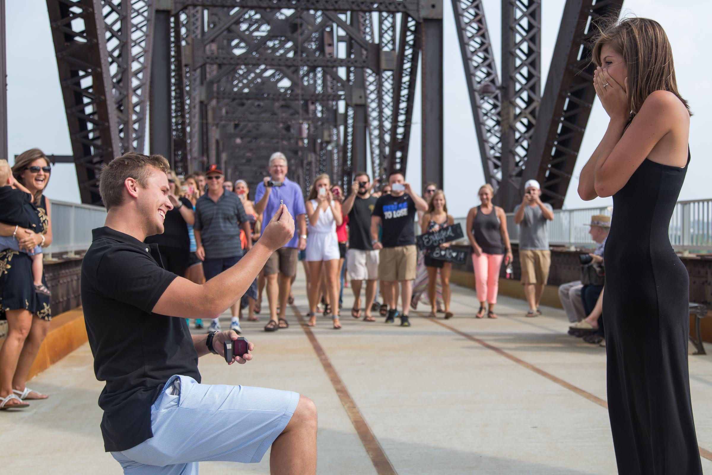 Image 2 of Jessica and Joseph's Walking Bridge Proposal in Louisville