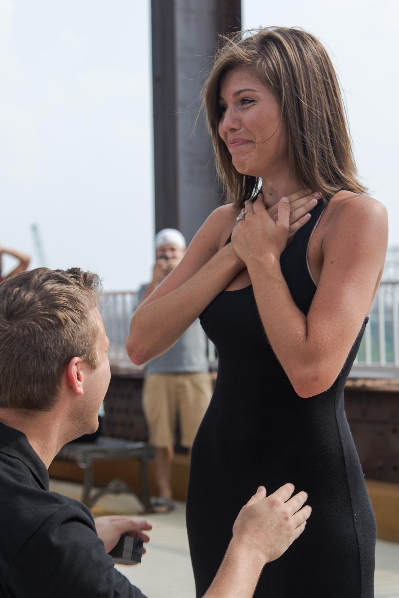 Image 4 of Jessica and Joseph's Walking Bridge Proposal in Louisville