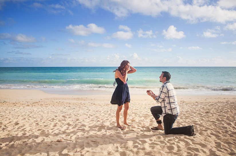 Image 3 of Michael and Kristyn's Hawaii Beach Proposal