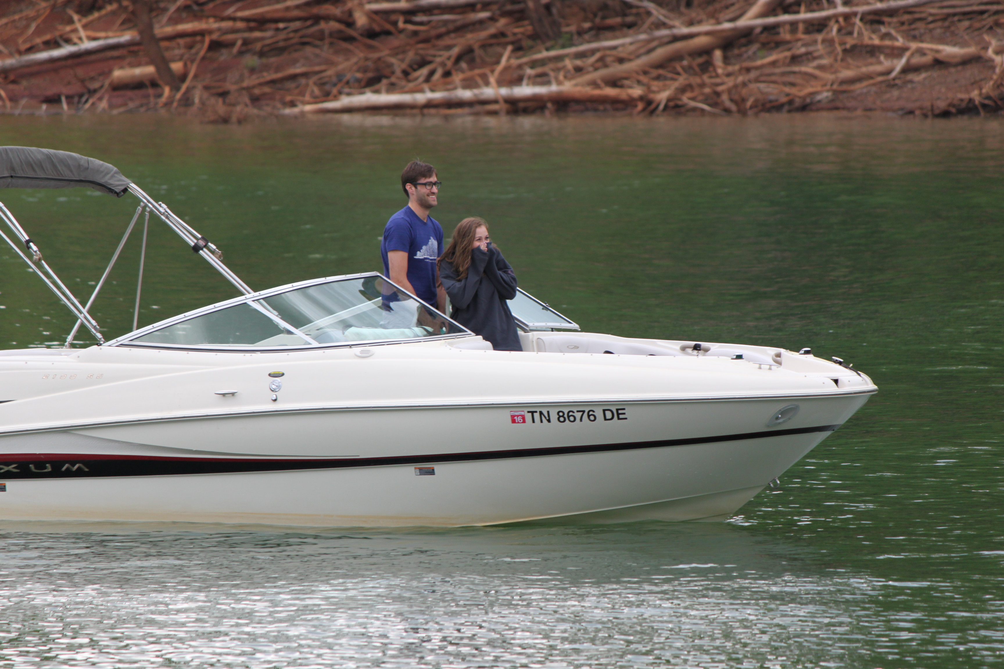 Image 5 of Lauren and Adam's Proposal on the Boat
