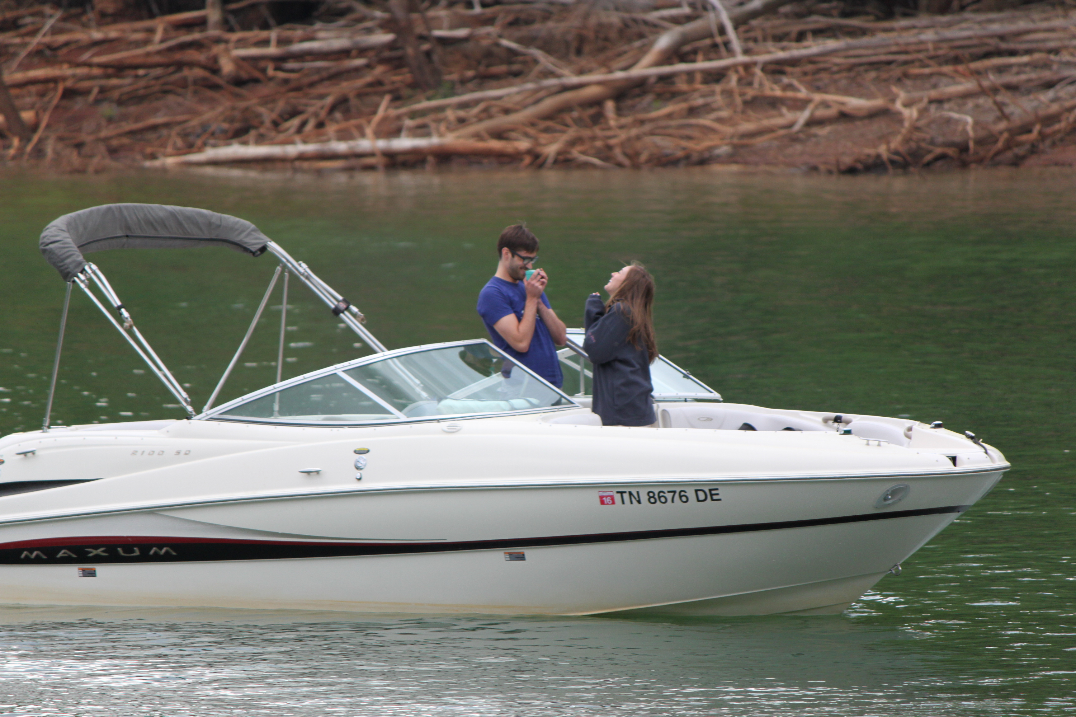 Image 6 of Lauren and Adam's Proposal on the Boat
