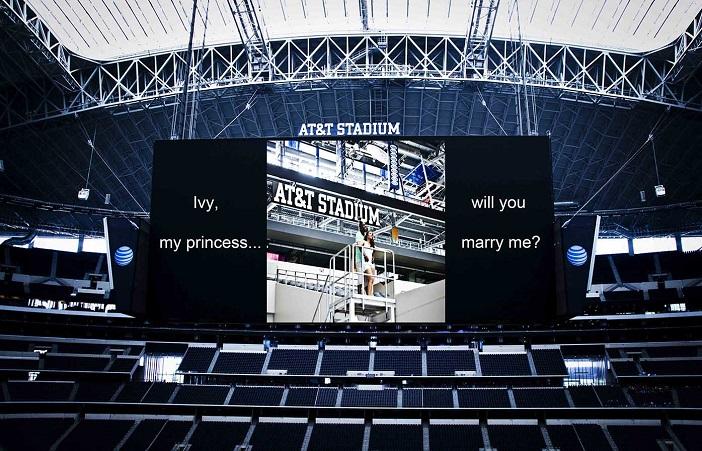 Marriage Proposal at Dallas Cowboys AT&T Stadium (12)