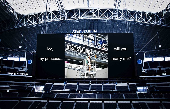 Image 4 of Cory & Ivy's Proposal at the Dallas Cowboys AT&T Stadium