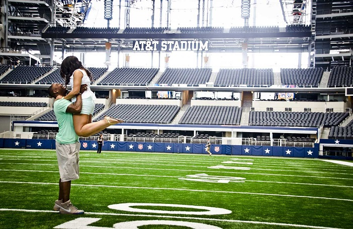 Proposal At The Dallas Cowboy 39 S AT T Stadium