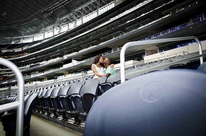 Image 2 of Cory & Ivy's Proposal at the Dallas Cowboys AT&T Stadium