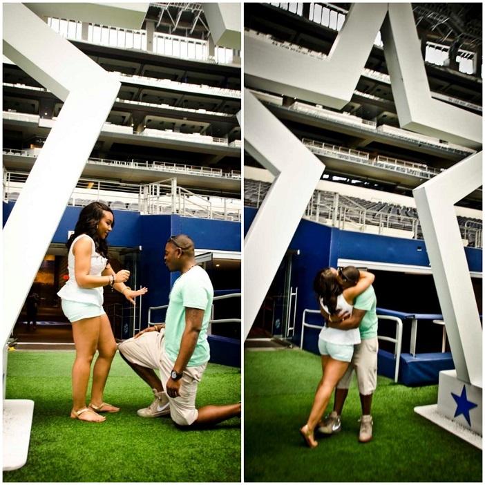 Marriage Proposal at Dallas Cowboys AT&T Stadium