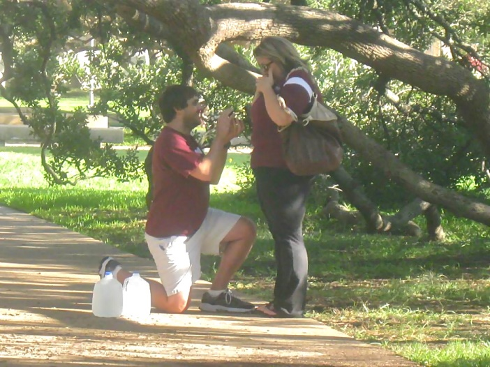 Marriage Proposal at Texas A & M University (2)