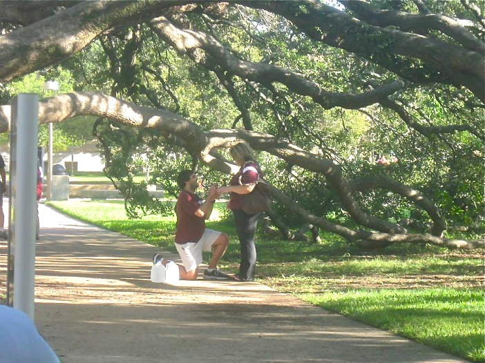 Marriage Proposal at Texas A & M University (3)