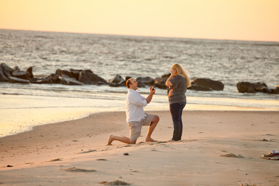 Romantic Sunrise Beach Proposal (1)