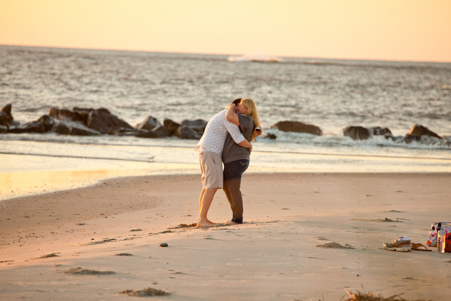 Romantic Sunrise Beach Proposal (2)