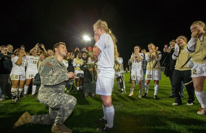 West Point Soccer Player Gets An On Field Surprise