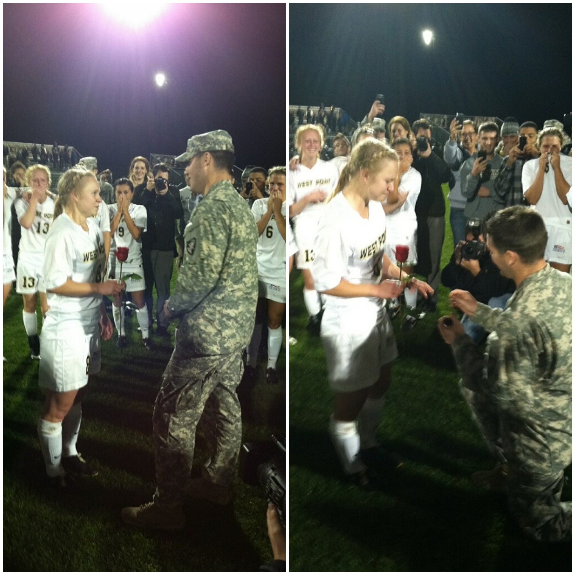 Image 3 of West Point Soccer Player Gets an On-Field Surprise