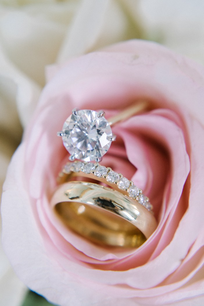 Engagement Ring Photography with Flowers