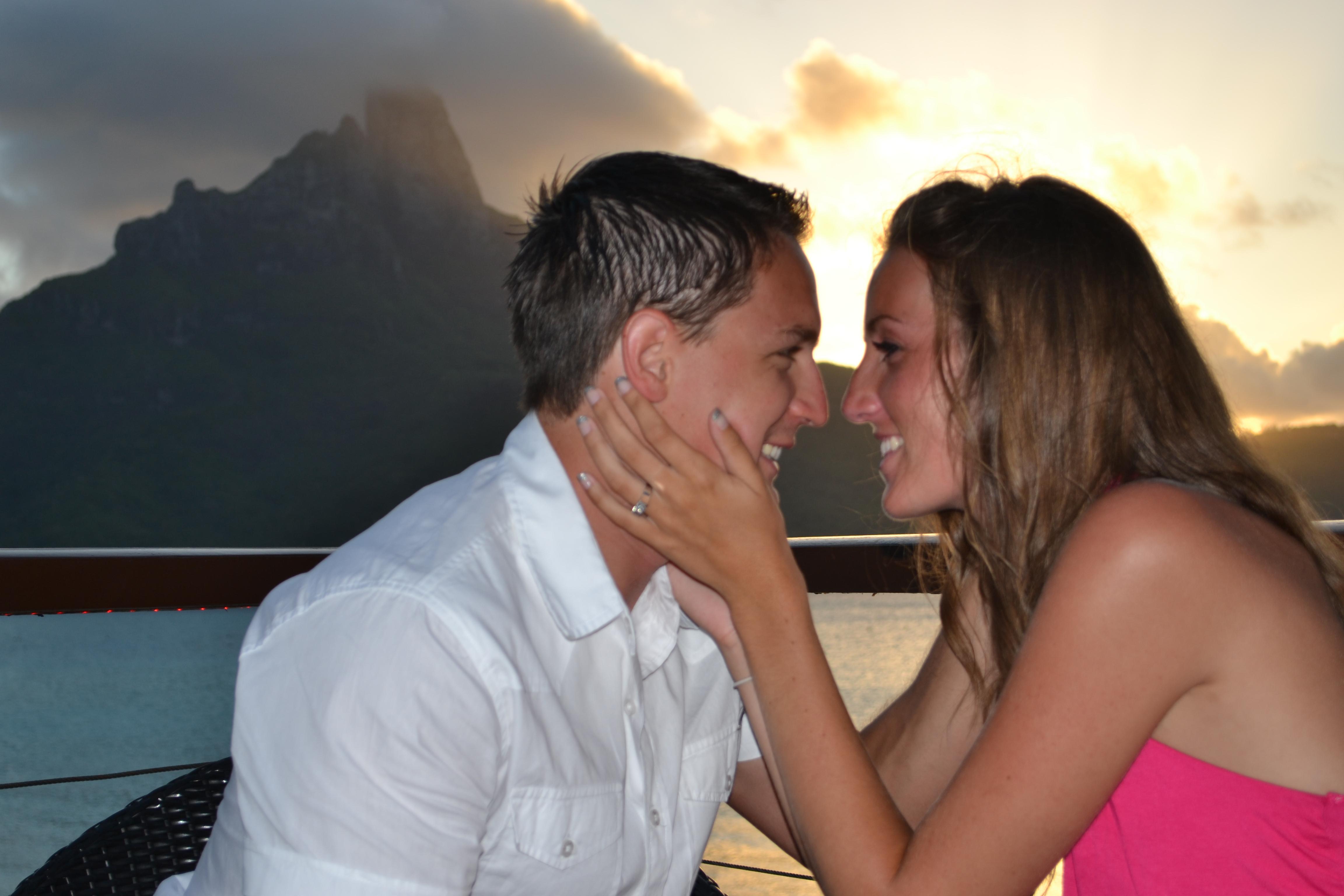 Proposal in Beautiful Bora Bora