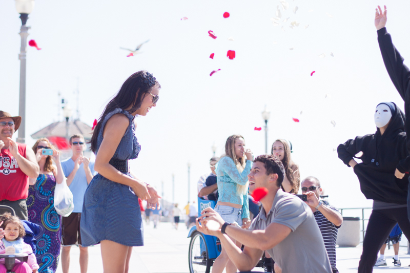 Flash Mob Proposal with Family and Friends