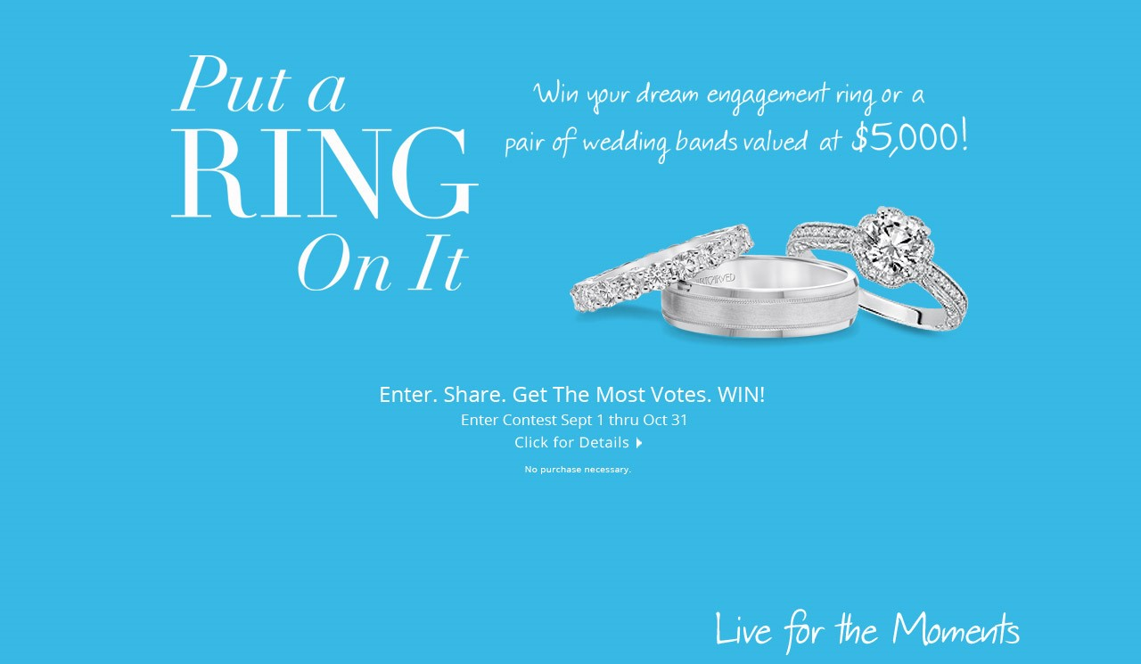 Win 5000 Towards an Engagement Ring or Wedding Bands from ArtCarved