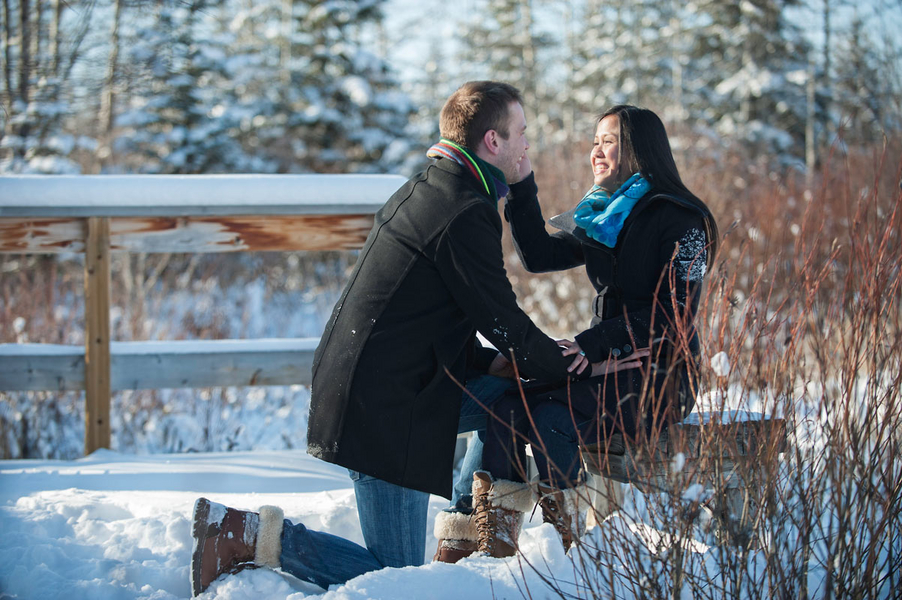 Photo Shoot Proposal in the Snowy Woods (10)
