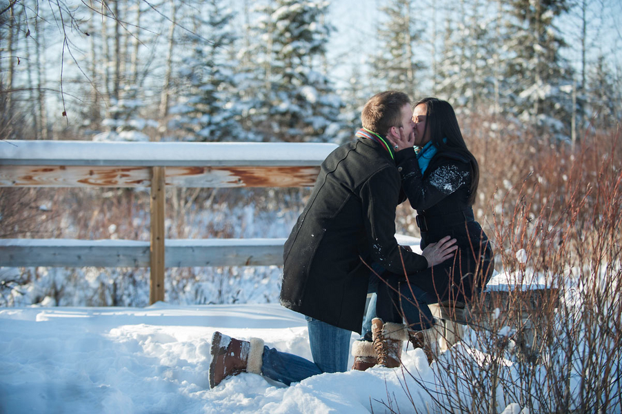 Photo Shoot Proposal in the Snowy Woods (11)