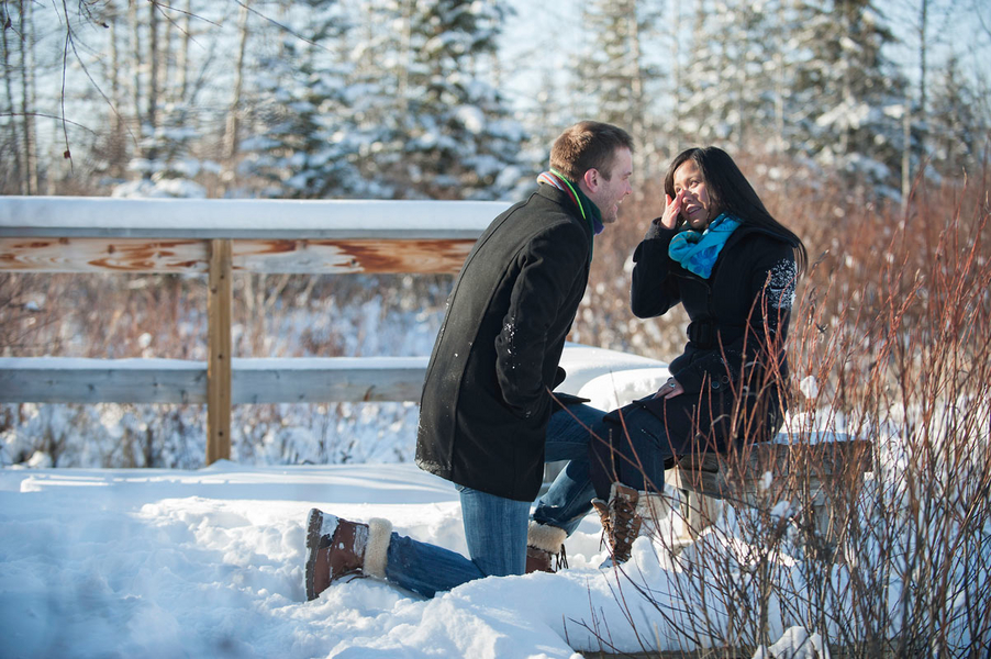 Image 11 of Kyle and Mary's Snowy Photoshoot Proposal