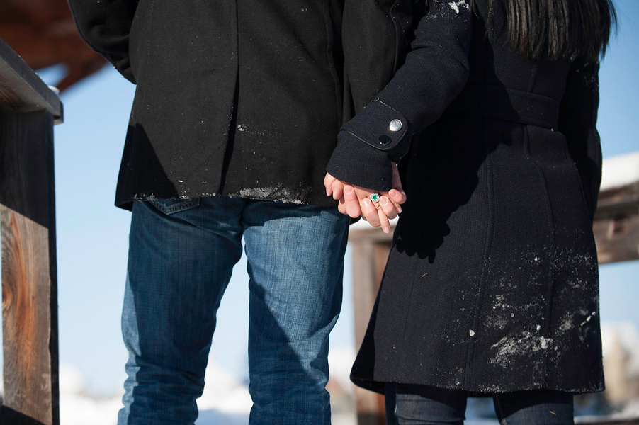Image 14 of Kyle and Mary's Snowy Photoshoot Proposal